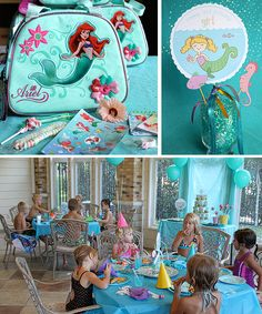 Mermaid Birthday Party - Kara's Party Ideas - The Place for All Things Party Little Mermaid Birthday, Little Mermaid Parties, Girls Birthday Party Themes, Birthday Parties, Birthday Ideas, 35th Birthday, Disney Princess Party, Mermaid Princess, Princess Sofia