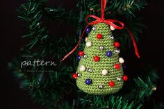 Crochet Pattern Little Colorful Christmas Trees by ZoomYummy