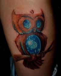 What does universe tattoo mean? We have universe tattoo ideas, designs, symbolism and we explain the meaning behind the tattoo. Universe Tattoo, Watercolor Tattoo, Owl, Symbols, Tattoos, Design, Ideas, Tatuajes, Owls
