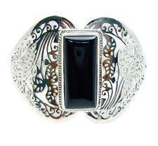 Black Onyx 925 Sterling Silver Bracelet classy Black wholesale AU gift