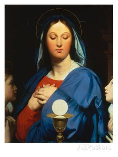 Virgin with the Host - Jean-Auguste-Dominique Ingres