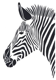 Nordic Canvas Art Painting Black White Giraffe Elephant Zebra Lion Print Animal Wall Art Poster Living Room Home Decor Painting Animal Stencil, Stencil Art, Zebras, Zebra Art, Zebra Painting, Motifs Animal, Lion Print, Stencil Patterns, Kirigami