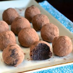 "Dark Chocolate Avocado Truffles! 5.00 stars, 2 reviews. ""These are one of my all-time favorite healthy desserts! They taste so sinful :)"" @allthecooks #recipe"