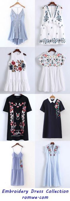 Embroidery Dresses Collection 2017 - romwe.com