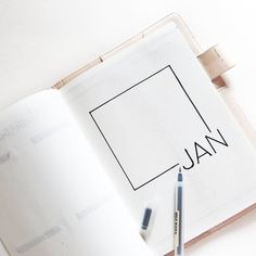 Bullet journal monthly cover page, minimalist bullet journal monthly cover page, January cover page. | @monokromajic
