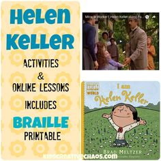 Win a book and enjoy online lessons too! Helen Keller Lesson Plans Elementary Middle School #KidsCreativeChaos