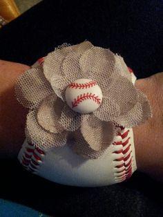 Baseball Cuff Bracelet, etsy