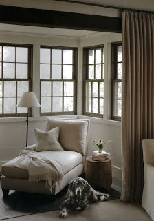 reading nook with a rustic feel  - AESTHETICALLY THINKING: March 2013
