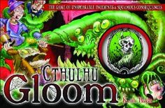 Cthulhu Gloom by Atlas Games. $18.61. For 2-4 players. The first player to meet a Story card's conditions - e.g., drawing the attention of The King in Yellow or heeding The Call of Cthulhu - claims the card and gains its benefits (or drawbacks). Takes about an hour to play. Transformation cards mutate a character for the remainder of the game, no matter which modifiers might come its way later. From the Manufacturer                From Dunwich to Innsmouth from the halls of Miska...