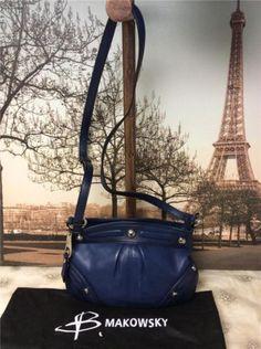 B-Makowsky-Small-Dark-Blue-Leather-Cross-Body-Bag-Shoulderbag-Handbag-Purse