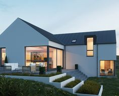 Arch House, Facade House, Modern House Design, Modern Barn House, Bungalow House Design, House Designs Ireland, Haus Am Hang, Gable House, Self Build Houses