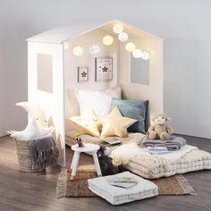 Maison Cosy Blanc - Enfant - Eminza Kid Spaces, Space Kids, Antalya, Baby Room, Toddler Bed, Kids Shop, House Design, Living Room, Interior