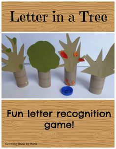 Letter recoginition game to compliment the book Tap the Magic Tree from growingbookbybook.com