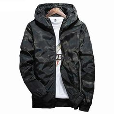 2018 Autumn Men Camo Printed Sports Running Jacket Camouflage Mens Hip Hop Slim Fit Male Bomber Jacket Hooded Coat Plus Size 5xl Sports & Entertainment Running Jackets