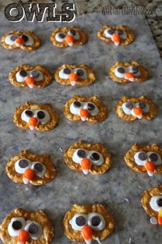 Worth Pinning: Pretzel Chip Turkey Heads - Edible Craft