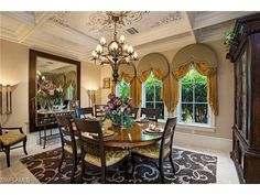 1326 Noble Heron WAY, Naples, FL 34105 | Formal dining room with texture and movement.  Estuary at Grey Oaks - Naples Seaside Properties