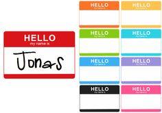 Custom Hello My Name Is Baby Bodysuit Sticker Announcement