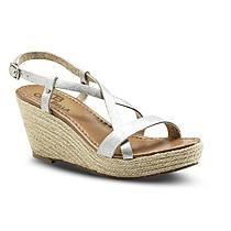 Ciao Bella Women's Erin Silver Espadrille Sandal