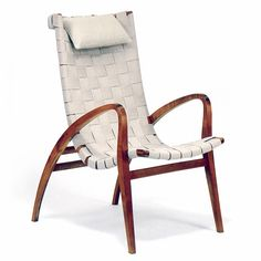 In 1930, Bruno Mathsson put his theories into practice. He was commissioned to design a new chair for Värnamo Hospital. His idea for designing a comfortable chair without traditional sprung upholstery led to an unusual solution. The chair, nicknamed Grasshopper by the hospital staff,was made using a frame covered with plaited webbing supported by arms and legs in solid birch. The controversial chairs were put away by the hospital staff to remain hidden until after Bruno Mathsson became…