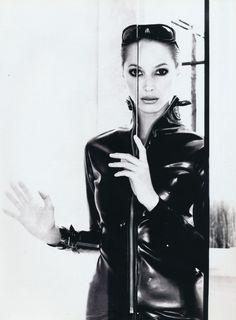 "slickcrust: ""Elle US, Sept 1995 ""Industrial Strength"" Photo Gilles Bensimon Stylist Fanny Pagniez Model Christy Turlington """
