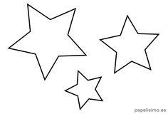 Plantilla-estrellas-imprimir-stencil Star Template, Templates Printable Free, Printables, Outline Pictures, Star Coloring Pages, Calligraphy Alphabet, Star Print, String Art, All Art