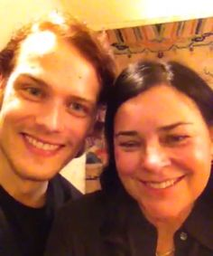 "Video: 'Outlander' author Diana Gabaldon and star Sam Heughan say ""Hallo"" to Germany."