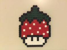 perler bead mushroom Strawberry
