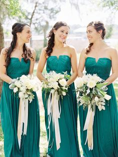 The flowers Bridesmaid Dresses Green, Bridesmaid Dresses A-Line, Custom Bridesmaid Dresses, Chiffon Bridesmaid Dresses, Cheap Bridesmaid Dresses Bridesmaid Dresses 2018 Teal Bridesmaid Dresses, Wedding Bridesmaids, Wedding Dresses, Prom Dresses, Dress Prom, Wedding Bouquets, Bridesmaid Color, Green Bridesmaids, Wedding Attire
