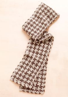 Loom Woven Houndstooth Check Scarf.....wrong kind of HT for me. Roll Tide Roll.