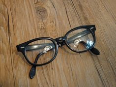 949577b1b1 Vintage USA Black Eyeglass Frames Key Hole 40  22