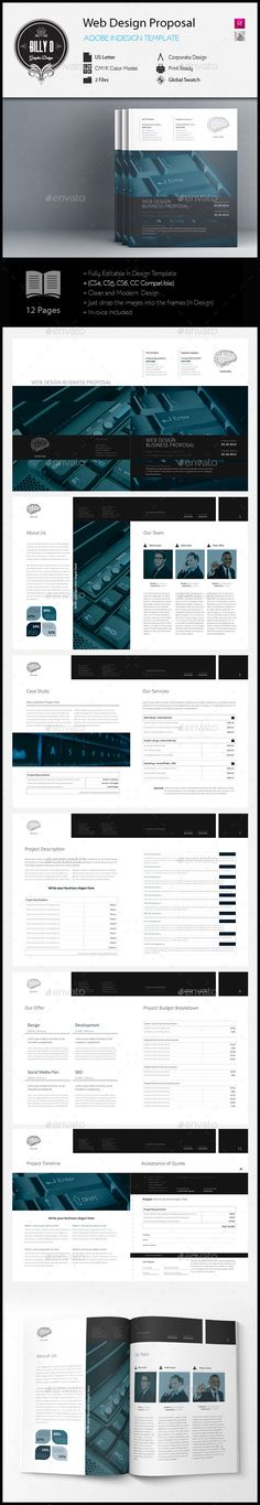 Business Proposal Template Indesign Indd Design Download Http