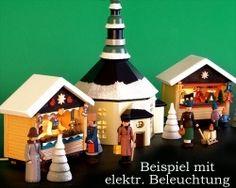 Crafmenship from Germany: Weihnachtsmarkt - aus dem Erzgebirge mit Seiffener Kirche!