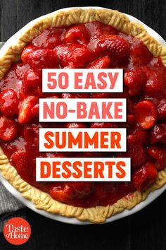 50 Easy No-Bake Summer Desserts-Mmh .- 50 Easy No-Bake Summer Desserts-Mmh … Happa happa- - No Bake Summer Desserts, Köstliche Desserts, Delicious Desserts, Yummy Food, Summer Recipes, Light Summer Desserts, Raspberry Desserts, Birthday Desserts, Summer Ideas
