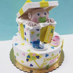 Adorable baby shower cake.
