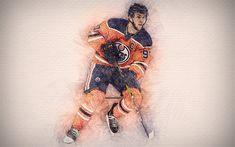 Download wallpapers Connor McDavid, 4k, artwork, hockey stars, Edmonton Oilers, NHL, hockey, drawing Connor McDavid Hockey Drawing, Connor Mcdavid, Edmonton Oilers, Desktop Pictures, Nhl, Man Cave, Iphone Wallpaper, Badass, Wallpapers