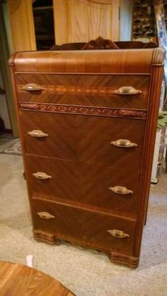 Cushman Colonial Rock Maple Complete Bedroom Set Incl Full Sized Bed Tall Chest Dresser W
