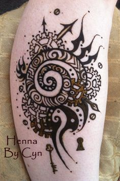 Like this cog henna Mehndi Art, Henna Mehndi, Mehendi, Henna Body Art, Body Art Tattoos, Henna Tattoos, Tattoo Drawings, I Tattoo, Henna Party