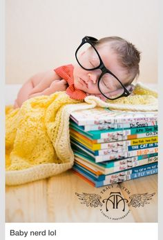 Newborn Photo For Boy Or Girl Stack Of Vintage Books Worked