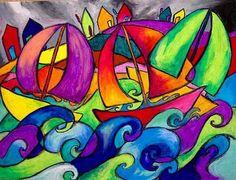 Sailboats in Stormy Seas: Chris Jeanguenat