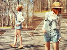 From Fashionista NOW: Trendy Denim Overalls & Dungarees ~ How To Wear Them Right? BY MISSREVERIE  See our fashion styles board for more ideas too!