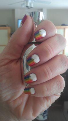 RAINBOW DASH nails! omg super classy pegasister pride!