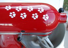 Paw Prints Dog Cat Decal to Decorate Kitchen Mixer Appliance Removable Vinyl Decals (KitchenAid, Kitchen Aid Mixer, other appliances)