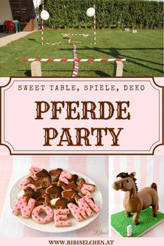 Here you will find ideas for your horse party: fun party games, decoration, horse cake and sweet table! Funny Party Games, Baby Girl Party Dresses, Horse Cake, Horse Party, Balloon Decorations Party, Farm Party, Casual Winter, Casual Summer, Party Planning