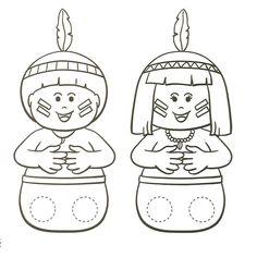 Menina-mulher da pele Preta: Seqüência de atividade Dia do Índio - Maternal