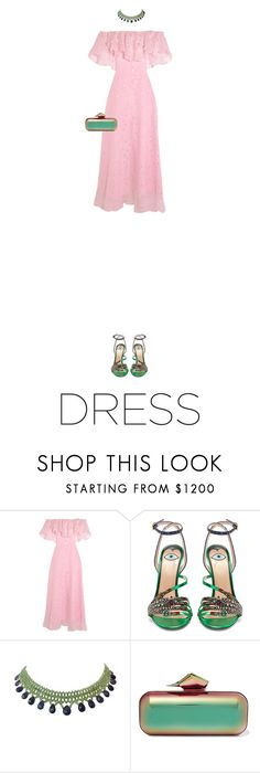 """""""Untitled #577"""" by adaylateabuckshort ❤ liked on Polyvore featuring Temperley London, Gucci, Marina J. and Jimmy Choo"""