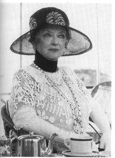 "Bette Davis in Agatha Christie film ""Death by the Nile"""