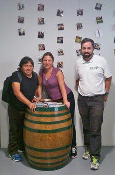 Hoy nos han visitado amigos de Miraflores #Madrid ¡Volved pronto! #ExperimentaTesela