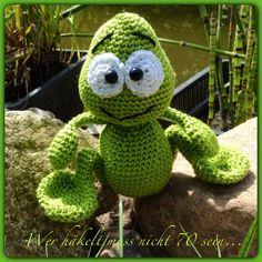 Gehäkelter Frosch / crochet frog
