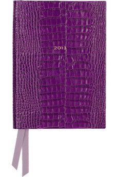 SmythsonSoho croc-effect leather 2013 diary