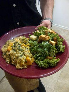 #vegan yummy ceaser & risotto